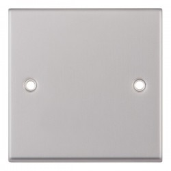 Selectric 7M Satin Chrome 1 Gang Blank Plate