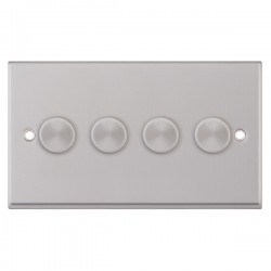 Selectric 7M Satin Chrome 4 Gang 400W 2 Way Dimmer Switch