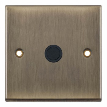 Selectric 7M-Pro Antique Brass 20A Centre Entry Flex Outlet with Black Insert