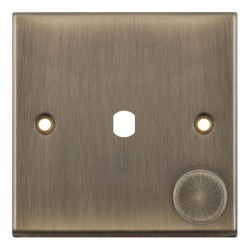 Selectric 7M-Pro Antique Brass 1 Gang Single Aperture Dimmer Plate with Matching Knob