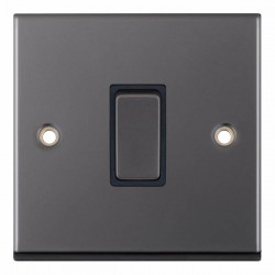 Selectric 7M-Pro Black Nickel 1 Gang 10A 2 Way Switch with Black Insert
