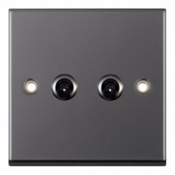 Selectric 7M-Pro Black Nickel 2 Gang 10A 2 Way Toggle Switch