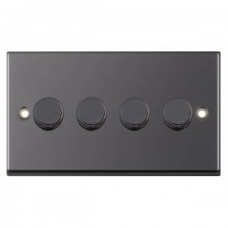 Selectric 7M-Pro Black Nickel 4 Gang 400W 2 Way Dimmer Switch