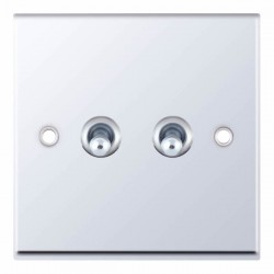 Selectric 7M-Pro Polished Chrome 2 Gang 10A 2 Way Toggle Switch