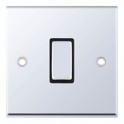Selectric 7M-Pro Polished Chrome 1 Gang 10A Intermediate Switch with Black Insert