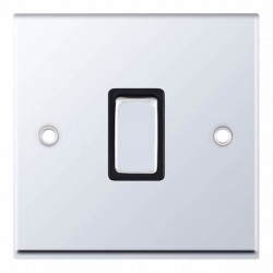 Selectric 7M-Pro Polished Chrome 1 Gang 20A DP Switch with Black Insert