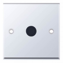 Selectric 7M-Pro Polished Chrome 20A Centre Entry Flex Outlet with Black Insert