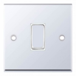 Selectric 7M-Pro Polished Chrome 1 Gang 10A Intermediate Switch with White Insert