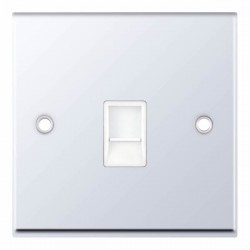 Selectric 7M-Pro Polished Chrome 1 Gang RJ11 Socket with White Insert