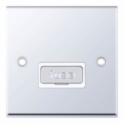 Selectric 7M-Pro Polished Chrome 13A Fused Connection Unit with White Insert