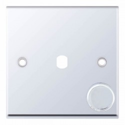 Selectric 7M-Pro Polished Chrome 1 Gang Single Aperture Dimmer Plate with Matching Knob