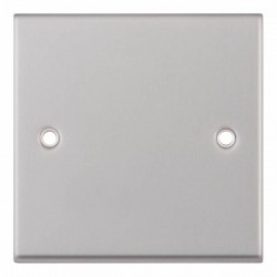 Selectric 7M-Pro Satin Chrome 1 Gang Blank Plate