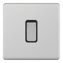 Selectric 5M-Plus Satin Chrome 1 Gang 10A 2 Way Switch with Black Insert