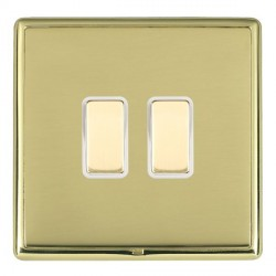 Hamilton Linea-Rondo CFX Polished Brass/Polished Brass 2 Gang Multi way Touch Slave Trailing Edge with Wh...