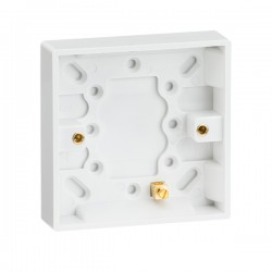 Knightsbridge Square Edge Single 16mm Pattress Box with Earth Terminal