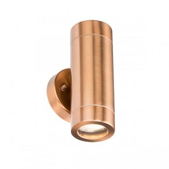 Knightsbridge 2x35W Copper Up/Down Wall Light