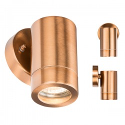 Knightsbridge 35W Copper Fixed Wall Light