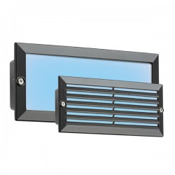 Knightsbridge 5W Black LED Brick Light - Blue