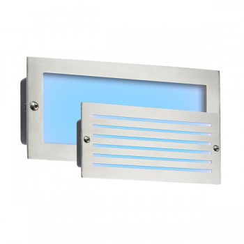 Knightsbridge 5W Brushed Steel LED Brick Light - Blue