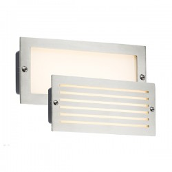 Knightsbridge 5W Brushed Steel LED Brick Light - 3500K