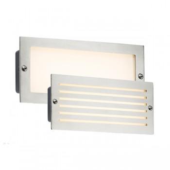 Knightsbridge 5W Brushed Steel LED Brick Light - 3500K