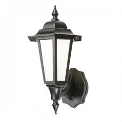 Knightsbridge 8W Black LED Wall Lantern
