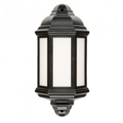 Knightsbridge 8W Black LED Half Wall Lantern