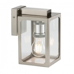 Knightsbridge 40W Brushed Chrome Wall Lantern