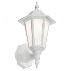 Knightsbridge 8W White LED Wall Lantern