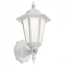 Knightsbridge 8W White LED Wall Lantern with PIR
