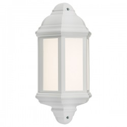 Knightsbridge 8W White LED Half Wall Lantern