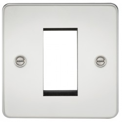 Knightsbridge Flat Plate Polished Chrome 1 Gang Modular Faceplate