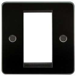 Knightsbridge Flat Plate Gunmetal 1 Gang Modular Faceplate