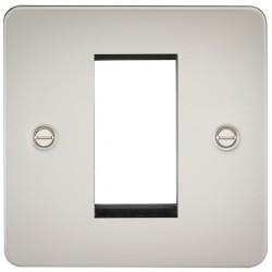 Knightsbridge Flat Plate Pearl 1 Gang Modular Faceplate