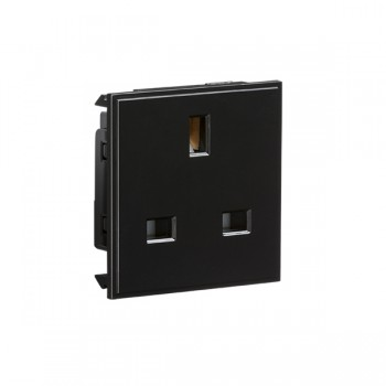 Knightsbridge Black 13A Socket Module - 50x50mm