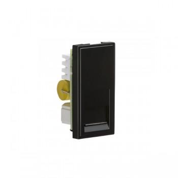 Knightsbridge Black Telephone Master Outlet Module - 25x50mm