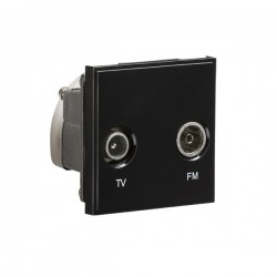 Knightsbridge Black Diplexed TV/FM DAB Outlet Module - 50x50mm