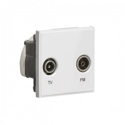 Knightsbridge White Diplexed TV/FM DAB Outlet Module - 50x50mm