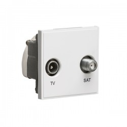 Knightsbridge White Diplexed TV/SAT Outlet Module - 50x50mm