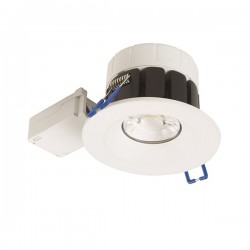 Robus Cavan 8W Colour Temp Selectable Dimmable Fixed LED Downlight with White Bezel