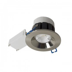Robus Cavan 8W Colour Temp Selectable Dimmable Fixed LED Downlight with Brushed Chrome Bezel
