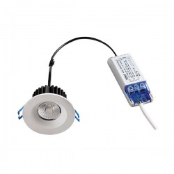Robus Cavan 8W 3000K Dimmable Fixed LED Downlight with White Bezel