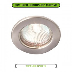 Robus Rida 50W Fixed GU10 Downlight with White Bezel