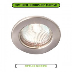 Robus Rida 50W Fixed GU10 Downlight with Chrome Bezel