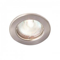 Robus Rida 50W Fixed GU10 Downlight with Brushed Chrome Bezel