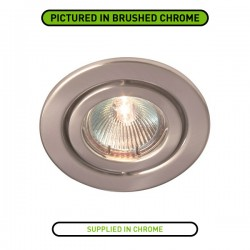 Robus Rida 50W Adjustable GU10 Downlight with Chrome Bezel