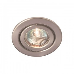 Robus Rida 50W Adjustable GU10 Downlight with Brushed Chrome Bezel