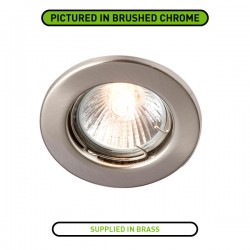 Robus Sally 50W Fixed GU10 Downlight with Brass Bezel