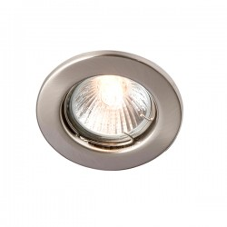 Robus Sally 50W Fixed GU10 Downlight with Brushed Chrome Bezel