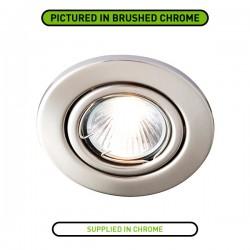 Robus Sally 50W Adjustable GU10 Downlight with Chrome Bezel